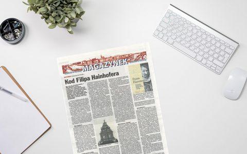 """Artykuł  """"Kuriera Szczecińskiego"""" dotyczący kolejnej publikacji Wydawnictwa US czyli """"Dziennika podróży"""" Filipa Hainhofera"""