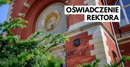 Oświadczenie Rektora Uniwersytetu Szczecińskiego