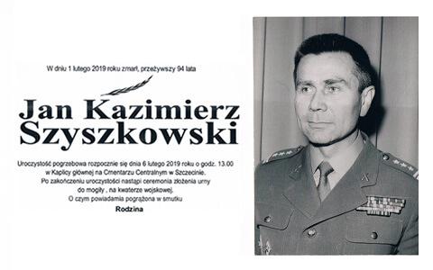 Zmarł prof. Jan Kazimierz Szyszkowski
